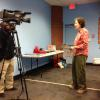 Vicki Karnes, Co-Chair of Diabetes Community Action Coalition speaks to FGTV  during the 2013 World Diabetes Day at Atlanta-Fulton Public Library: Dogwood Branch