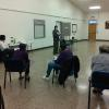 Diabetes Educator Vicki Karnes  speaks on diabetes health and wellness at Dogwood Senior Center.
