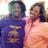 New Hope Baptist Church of Atlanta Nurses Guild Member/Health Fair Organizer Shajuanda Strickland with RANDAF, Inc. President Mutima Anderso